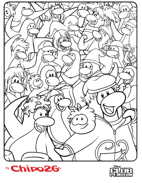 Nueva Imagen Para Colorear! « Supermegabuu Secretos Club Penguin